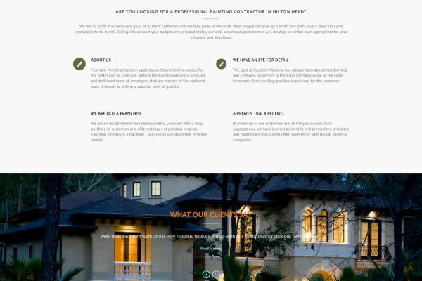 web design for painting companies